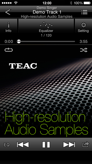 TEAC HR Audio Player for iOS/Android | OVERVIEW | TEAC